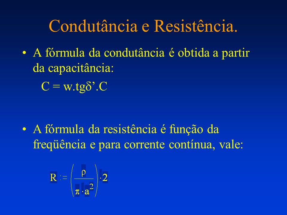 Condutância e Resistência.
