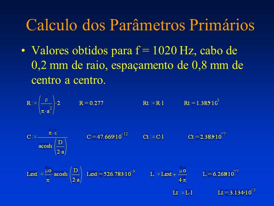 Calculo dos Parâmetros Primários