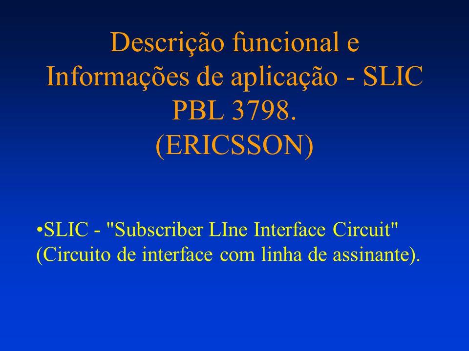 Descrição funcional e Informações de aplicação - SLIC PBL 3798