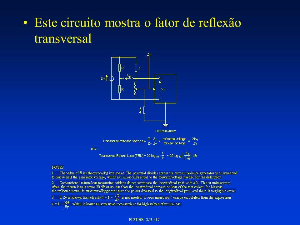 Este circuito mostra o fator de reflexão transversal