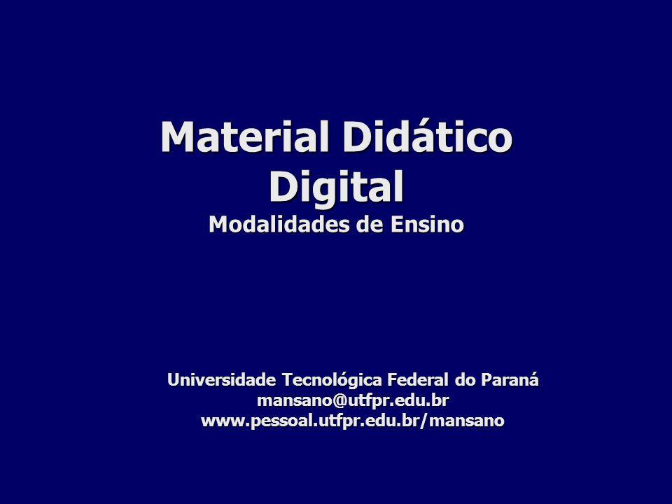 Material Didático Digital Modalidades de Ensino