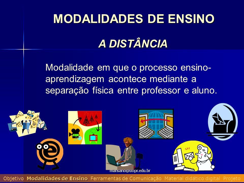 MODALIDADES DE ENSINO A DISTÂNCIA