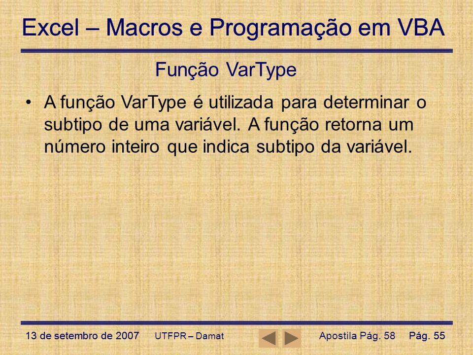 Função VarType
