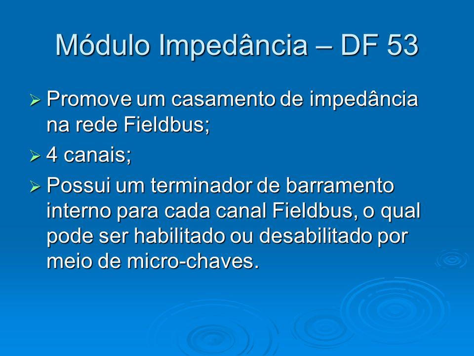 Módulo Impedância – DF 53 Promove um casamento de impedância na rede Fieldbus; 4 canais;
