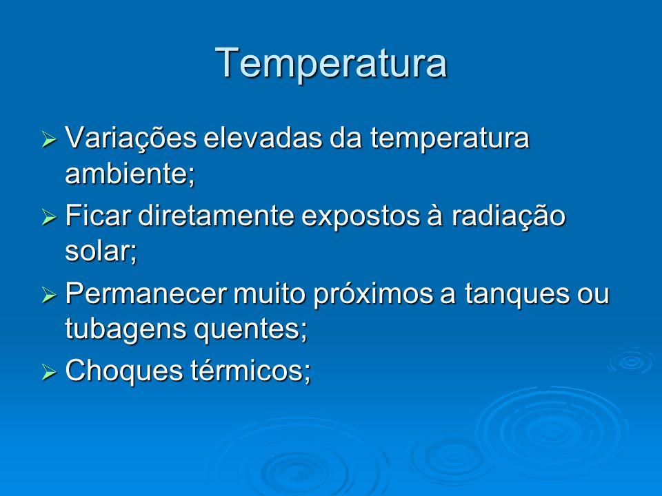 Temperatura Variações elevadas da temperatura ambiente;