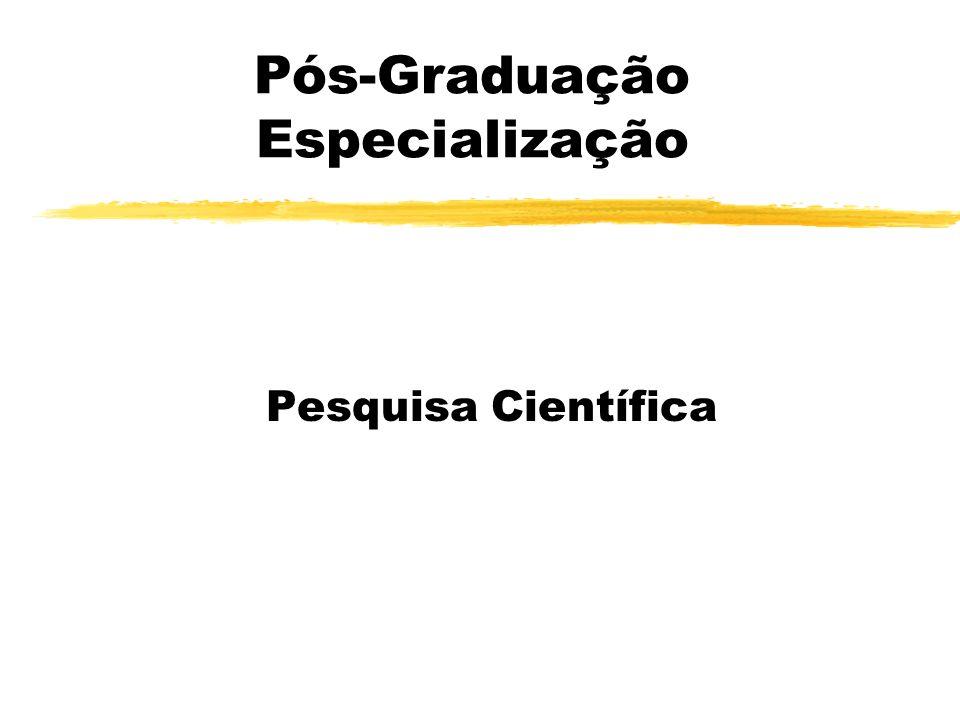 Pós-Graduação Especialização