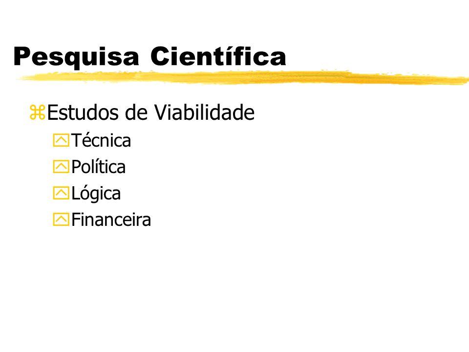 Pesquisa Científica Estudos de Viabilidade Técnica Política Lógica