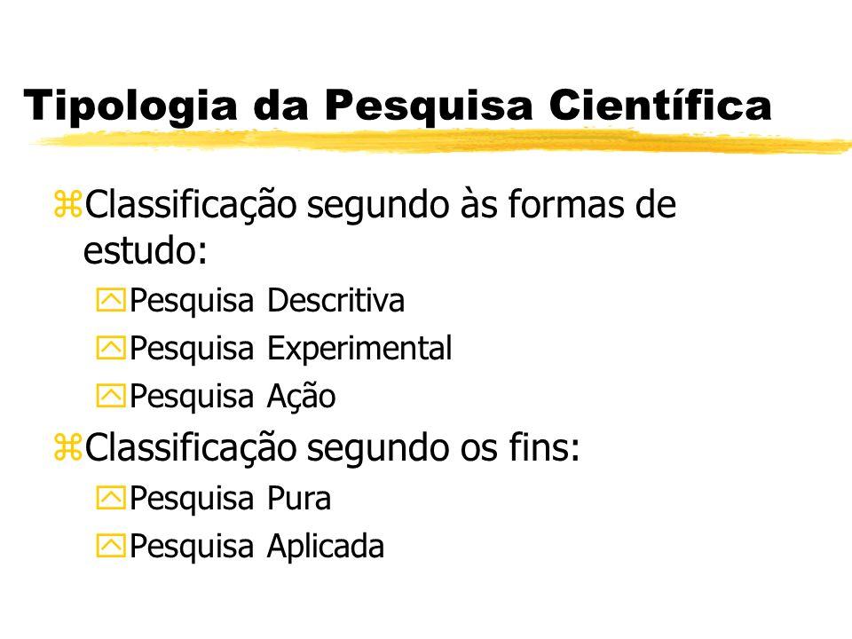 Tipologia da Pesquisa Científica