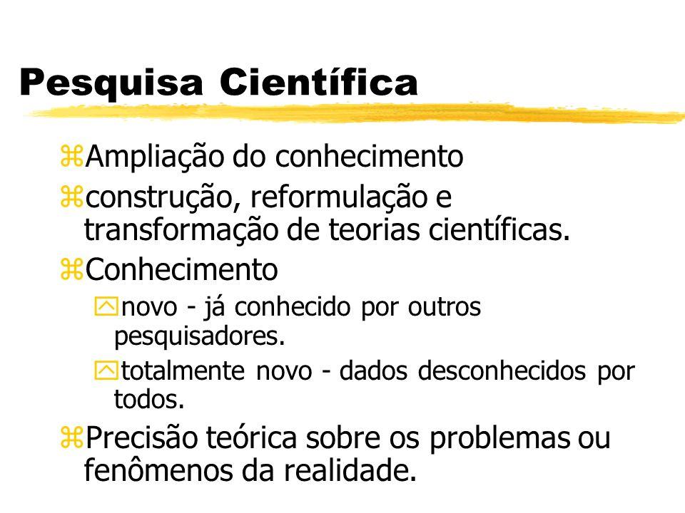 Pesquisa Científica Ampliação do conhecimento