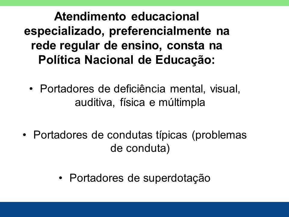 Atendimento educacional especializado, preferencialmente na rede regular de ensino, consta na Política Nacional de Educação: