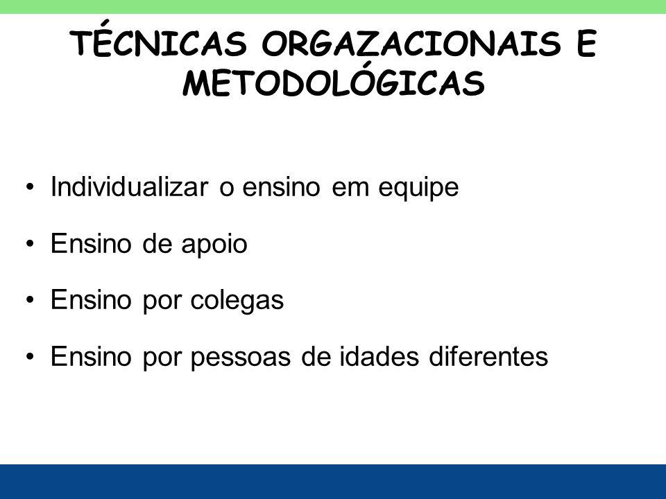 TÉCNICAS ORGAZACIONAIS E METODOLÓGICAS