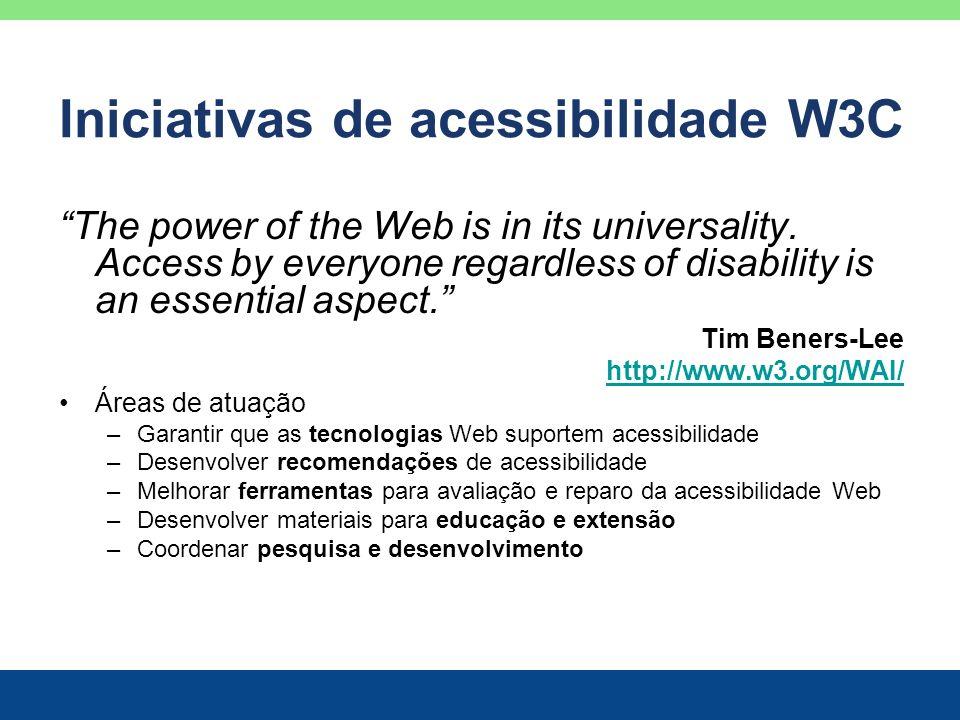 Iniciativas de acessibilidade W3C