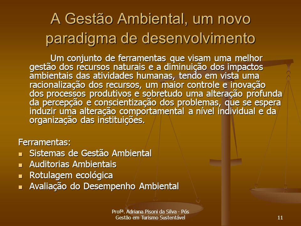A Gestão Ambiental, um novo paradigma de desenvolvimento