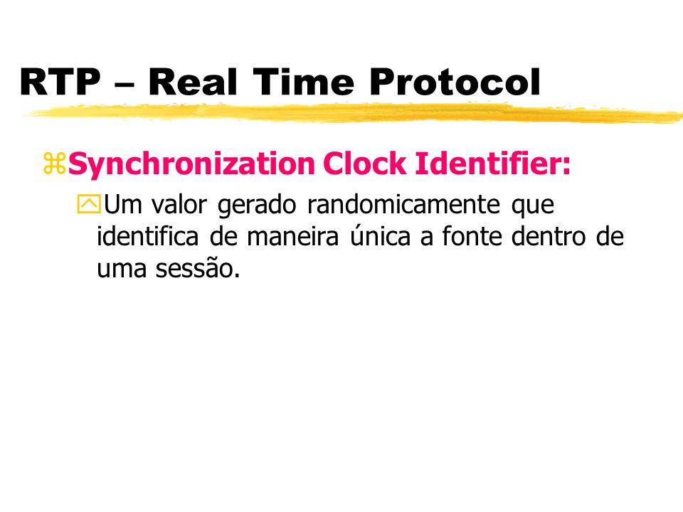 RTP – Real Time Protocol