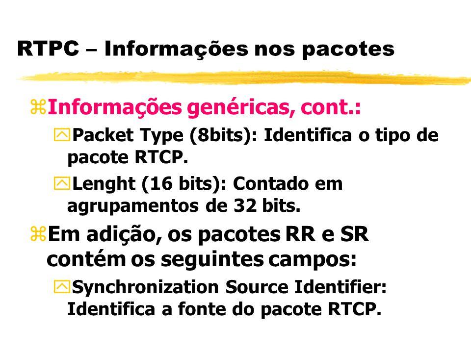 RTPC – Informações nos pacotes