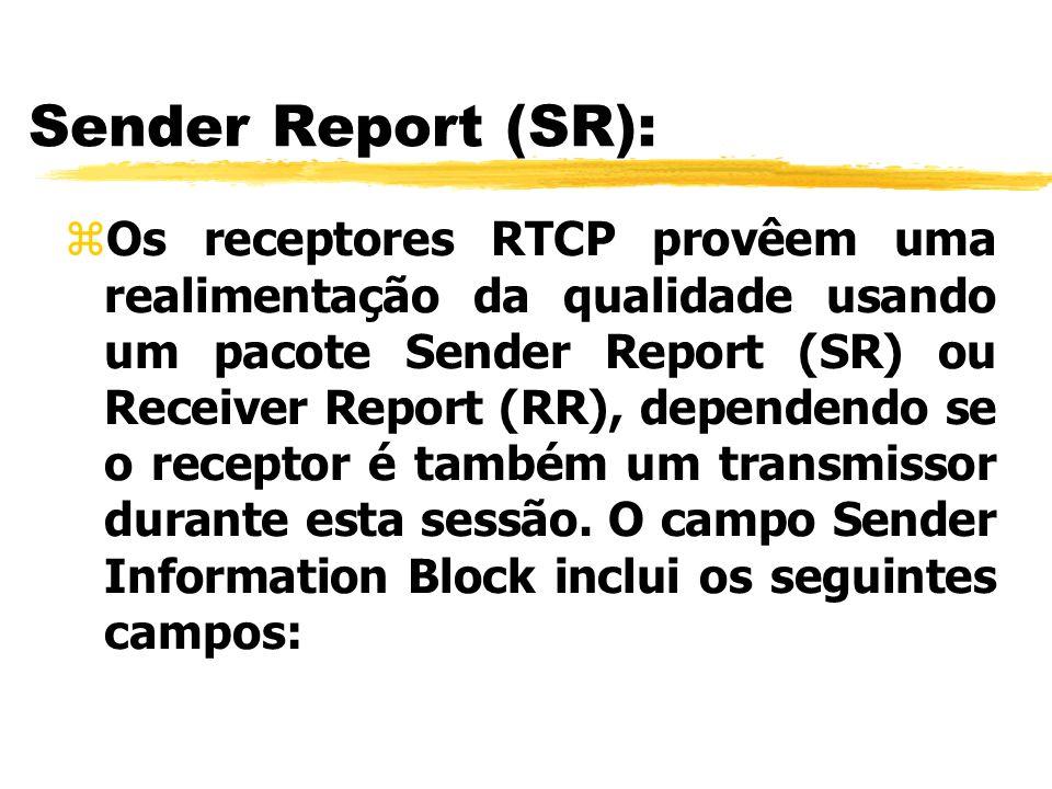 Sender Report (SR):