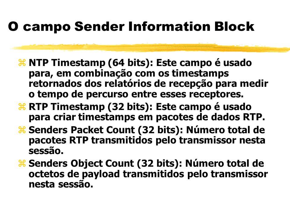 O campo Sender Information Block