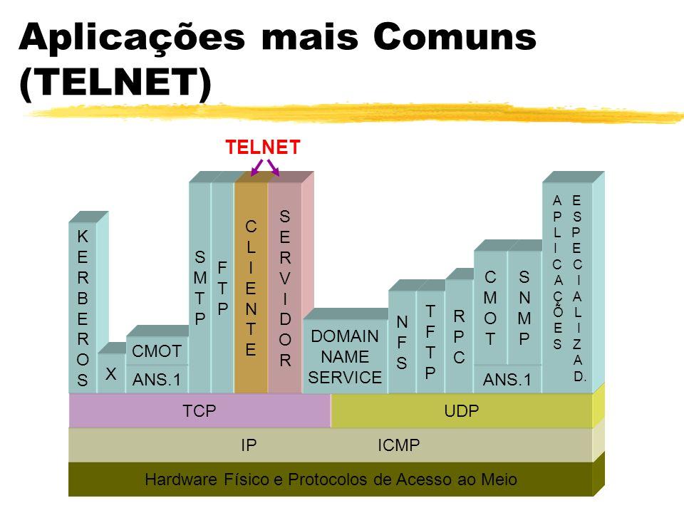 Aplicações mais Comuns (TELNET)