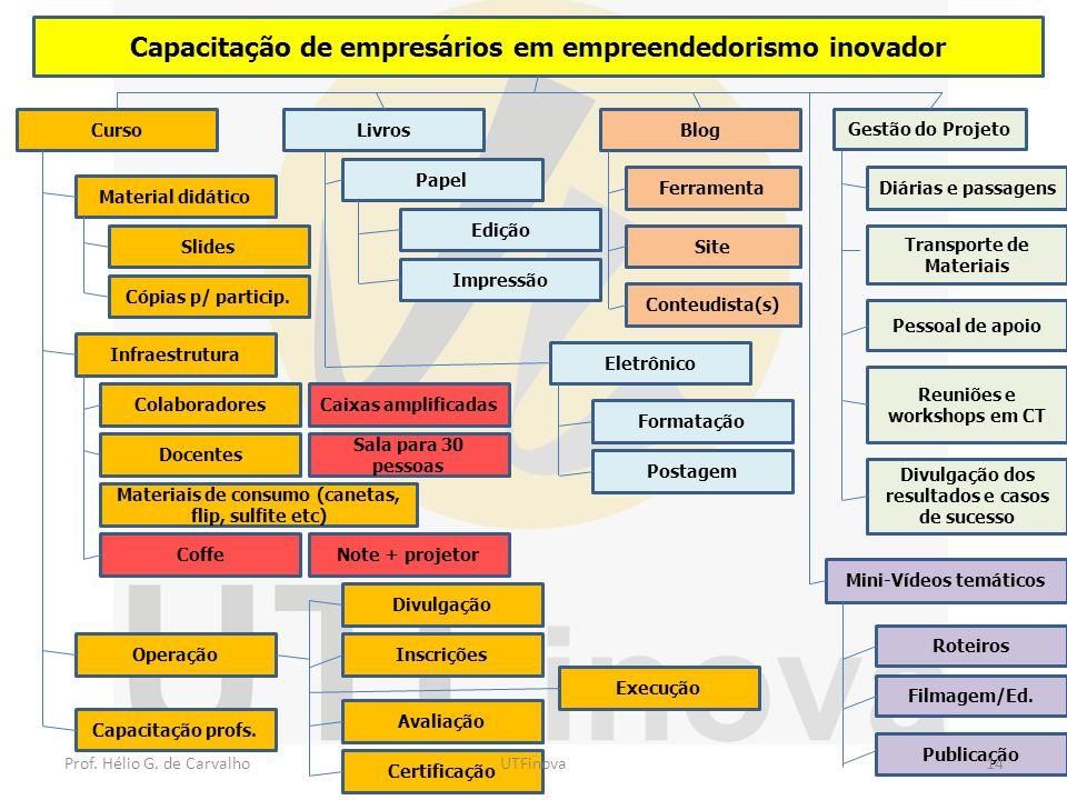 Capacitação de empresários em empreendedorismo inovador