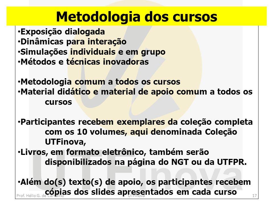 Metodologia dos cursos