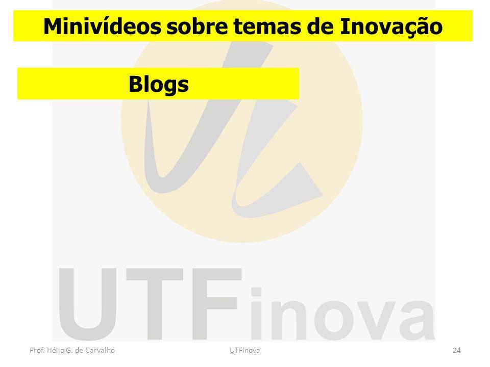 Minivídeos sobre temas de Inovação