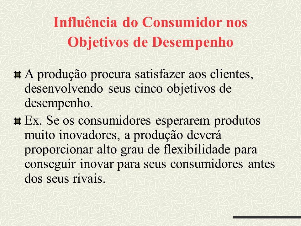 Influência do Consumidor nos Objetivos de Desempenho