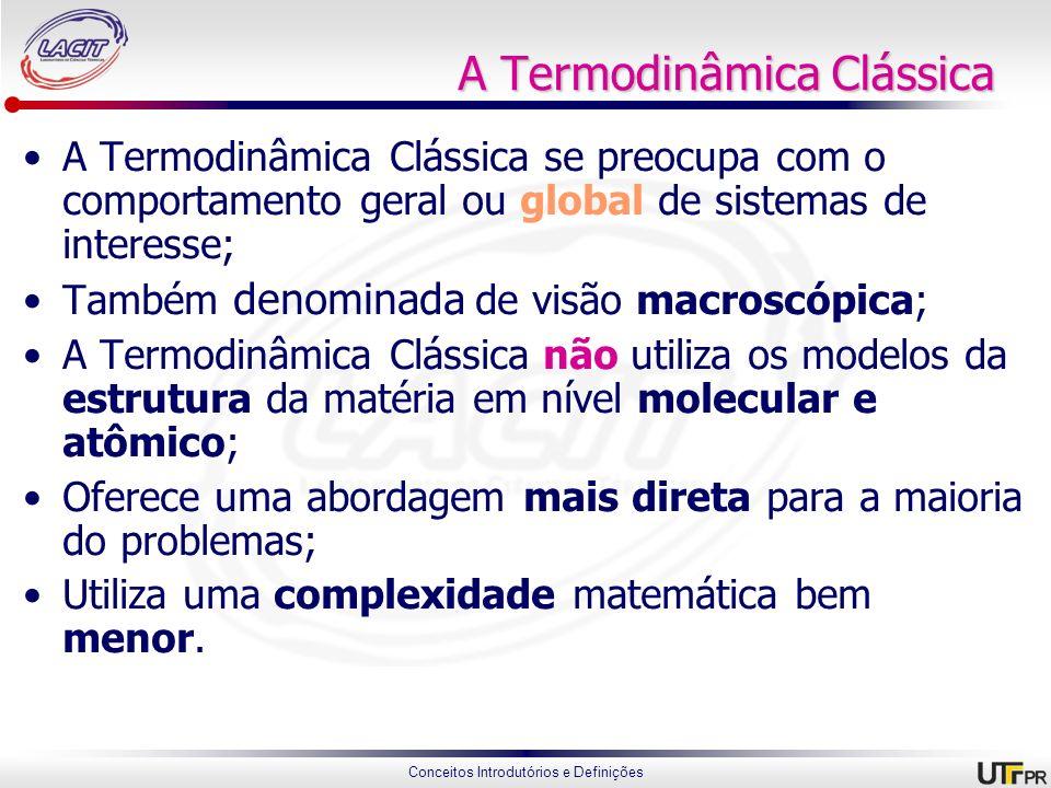 A Termodinâmica Clássica