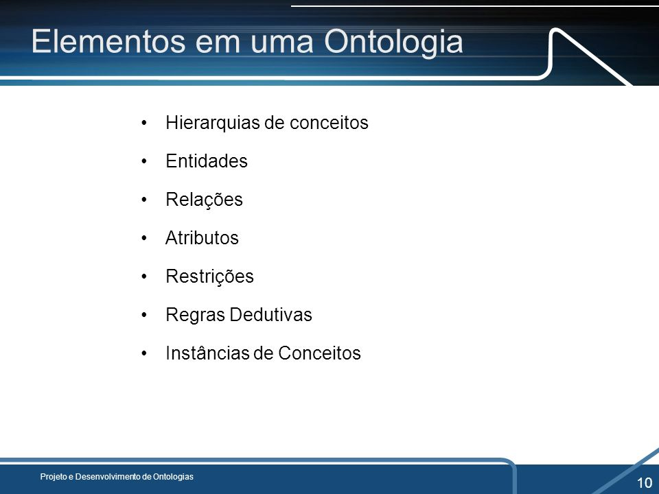 Elementos em uma Ontologia