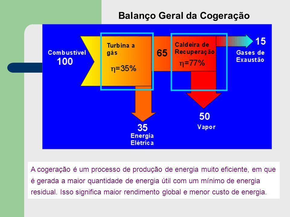 Balanço Geral da Cogeração