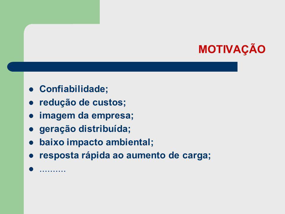 MOTIVAÇÃO Confiabilidade; redução de custos; imagem da empresa;