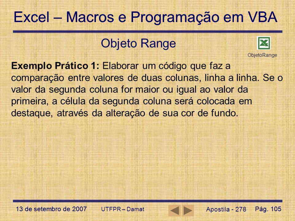 Objeto Range ObjetoRange.