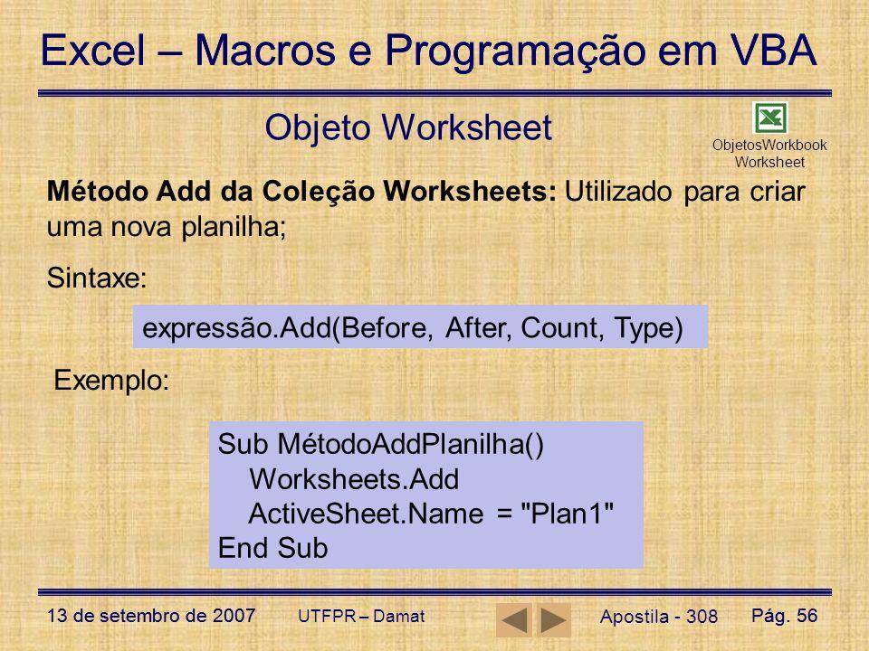 ObjetosWorkbookWorksheet