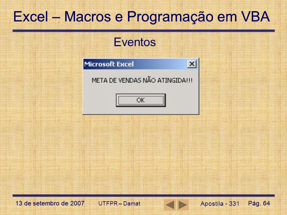 Eventos UTFPR – Damat Apostila - 331