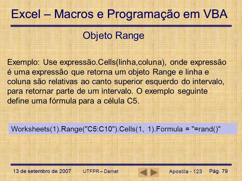 Objeto Range