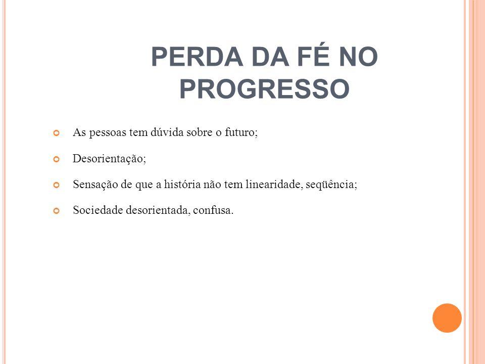 PERDA DA FÉ NO PROGRESSO