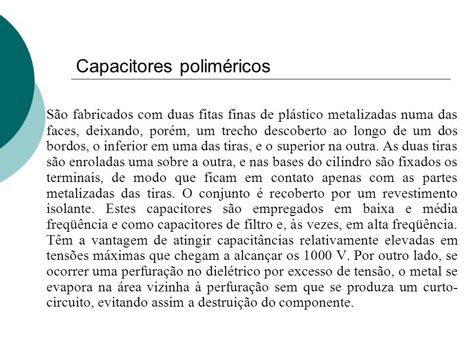 Capacitores poliméricos