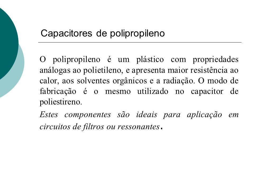 Capacitores de polipropileno