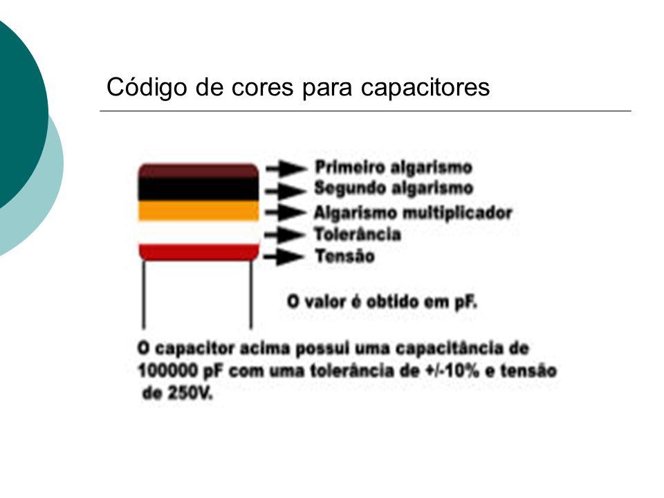 Código de cores para capacitores