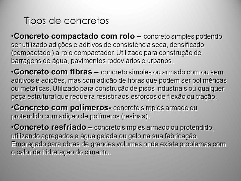 Tipos de concretos