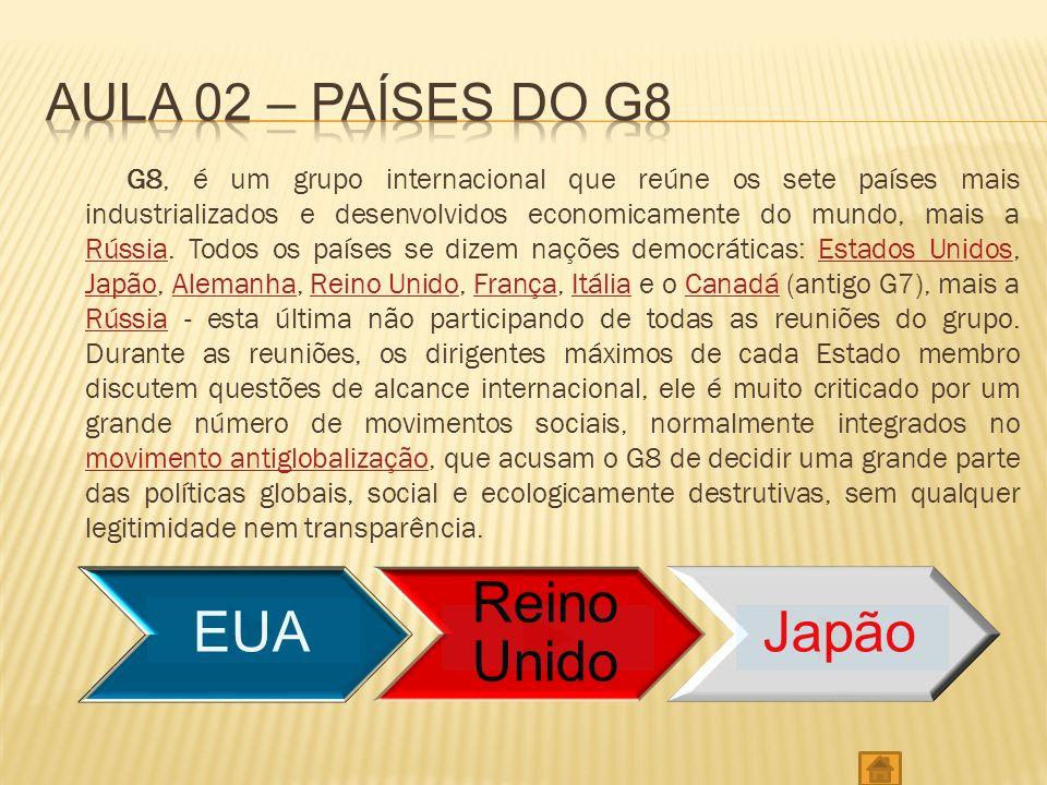 Aula 02 – países do g8