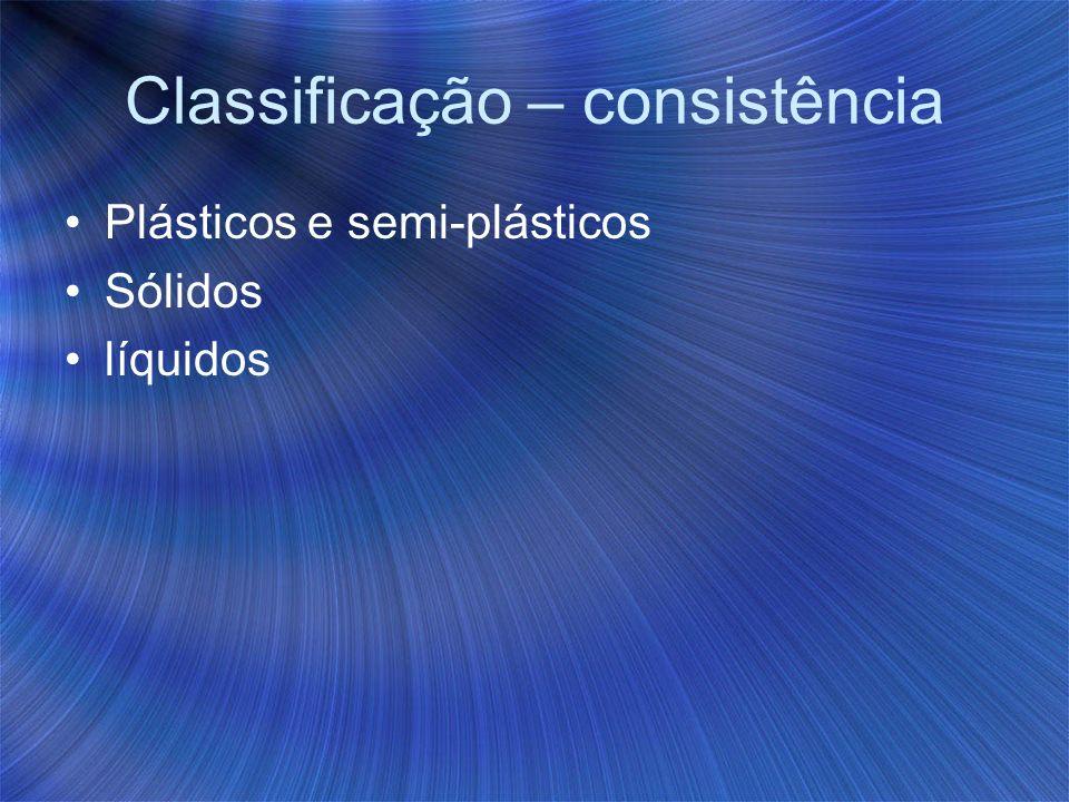 Classificação – consistência