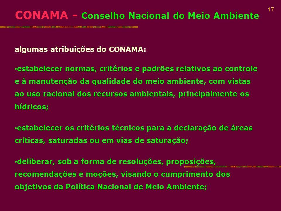 CONAMA - Conselho Nacional do Meio Ambiente