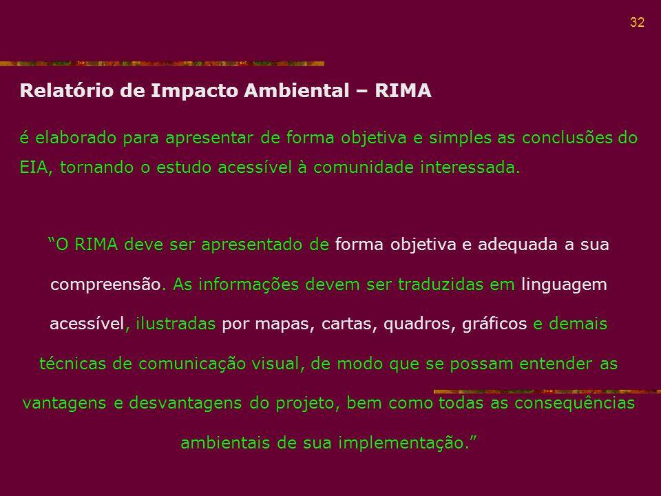 Relatório de Impacto Ambiental – RIMA