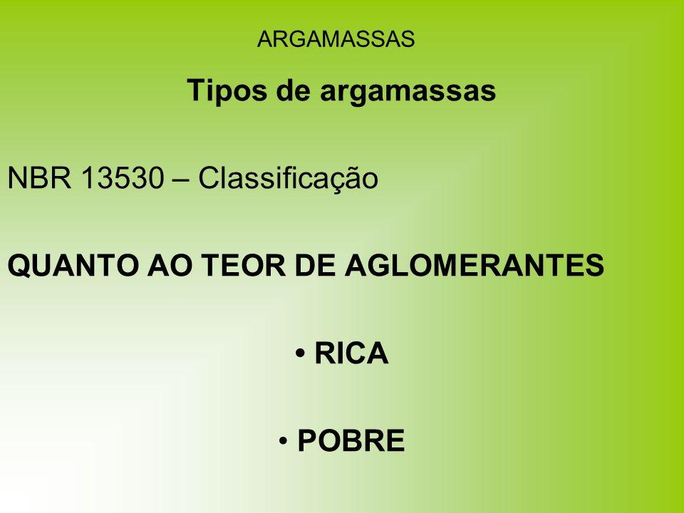 Tipos de argamassas • RICA