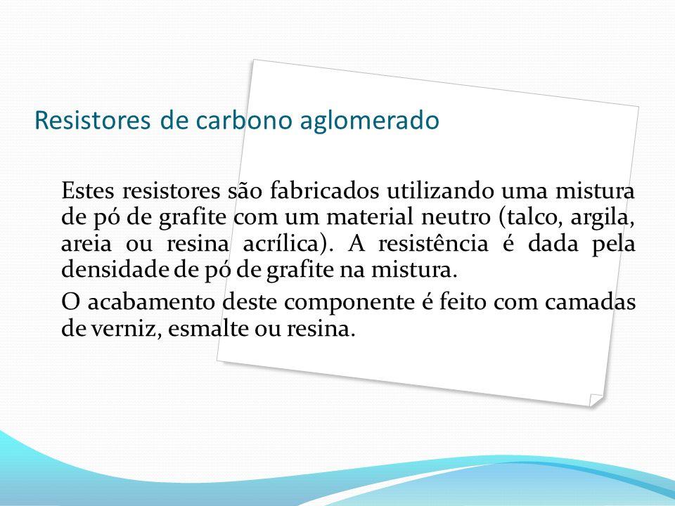 Resistores de carbono aglomerado