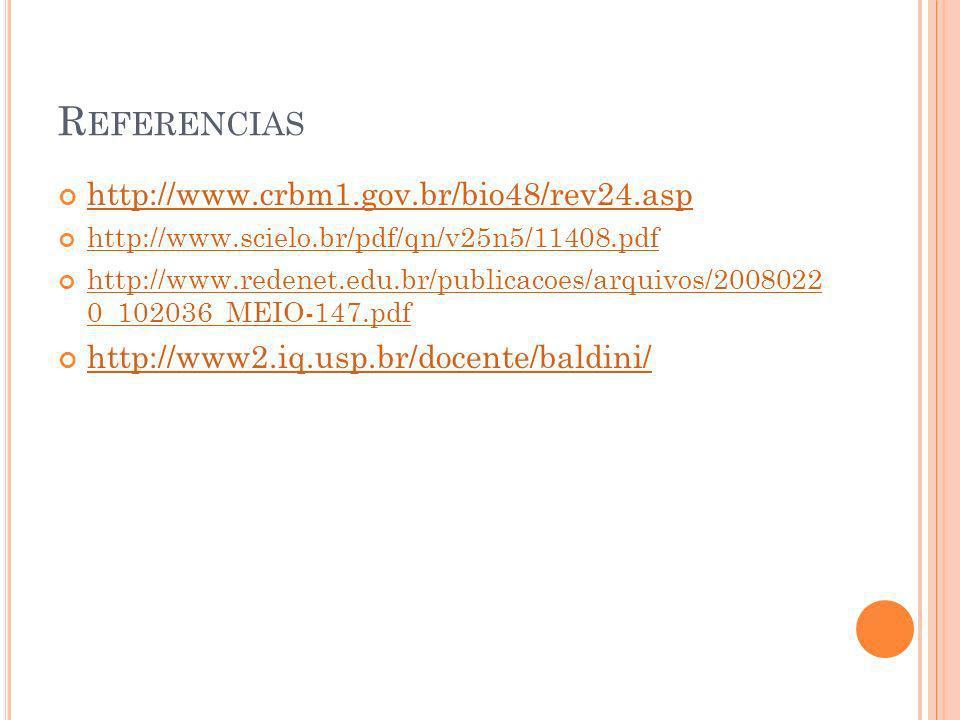 Referencias http://www.crbm1.gov.br/bio48/rev24.asp
