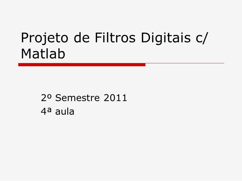 Projeto de Filtros Digitais c/ Matlab