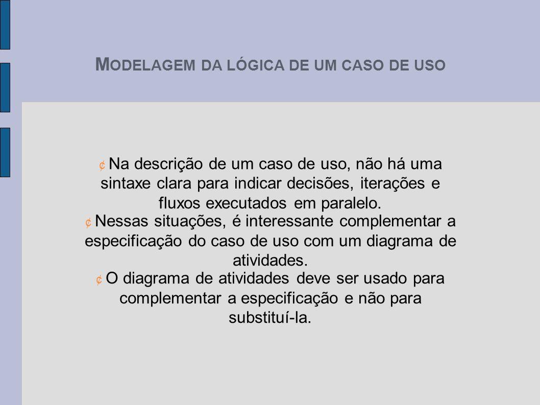 MODELAGEM DA LÓGICA DE UM CASO DE USO