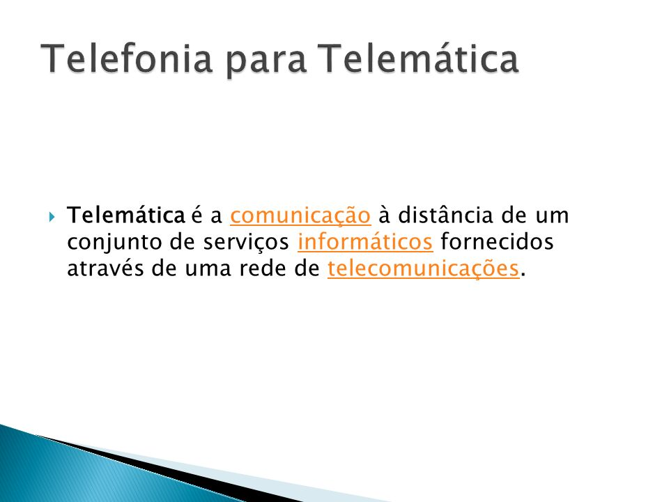 Telefonia para Telemática