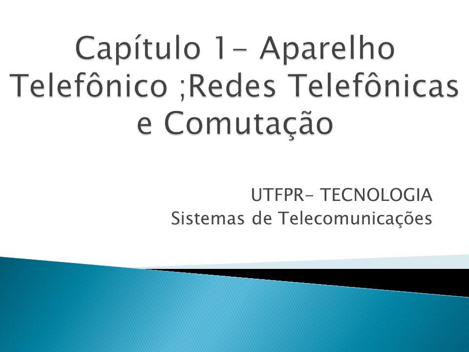 Capítulo 1- Aparelho Telefônico ;Redes Telefônicas e Comutação